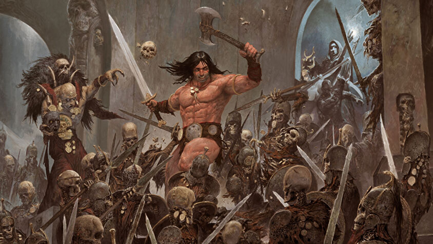 Conan board game artwork