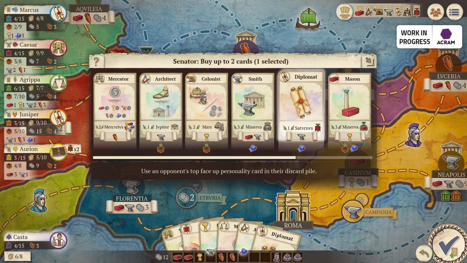Concordia: Digital Edition screenshot cards