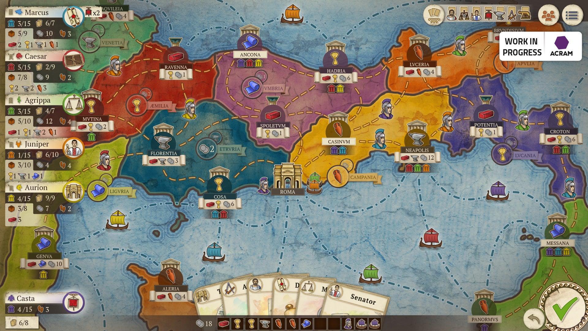 Concordia: Digital Edition screenshot map
