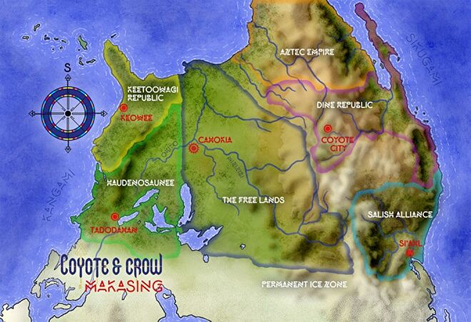Coyote and Crow world map.png
