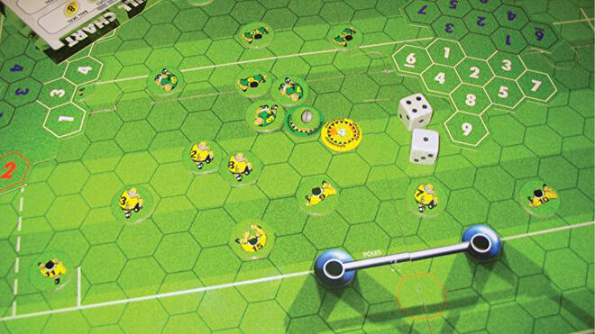 Crash Tackle Rugby board game layout
