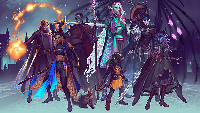 Official Mighty Nein artwork for Critical Role