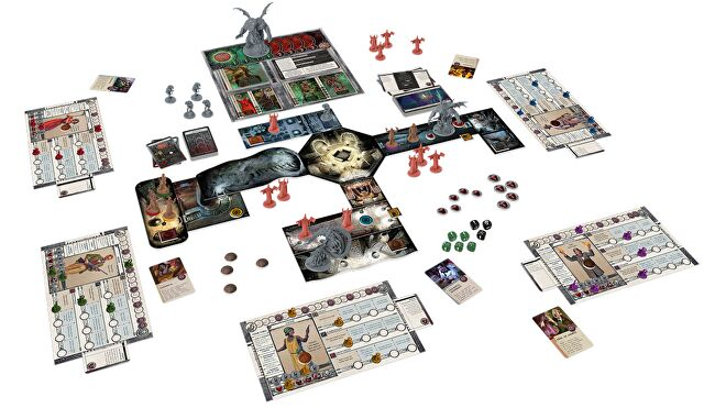 Cthulhu: Death May Die board game gameplay layout