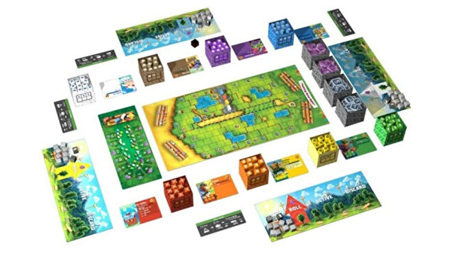 Cubitos board game layout