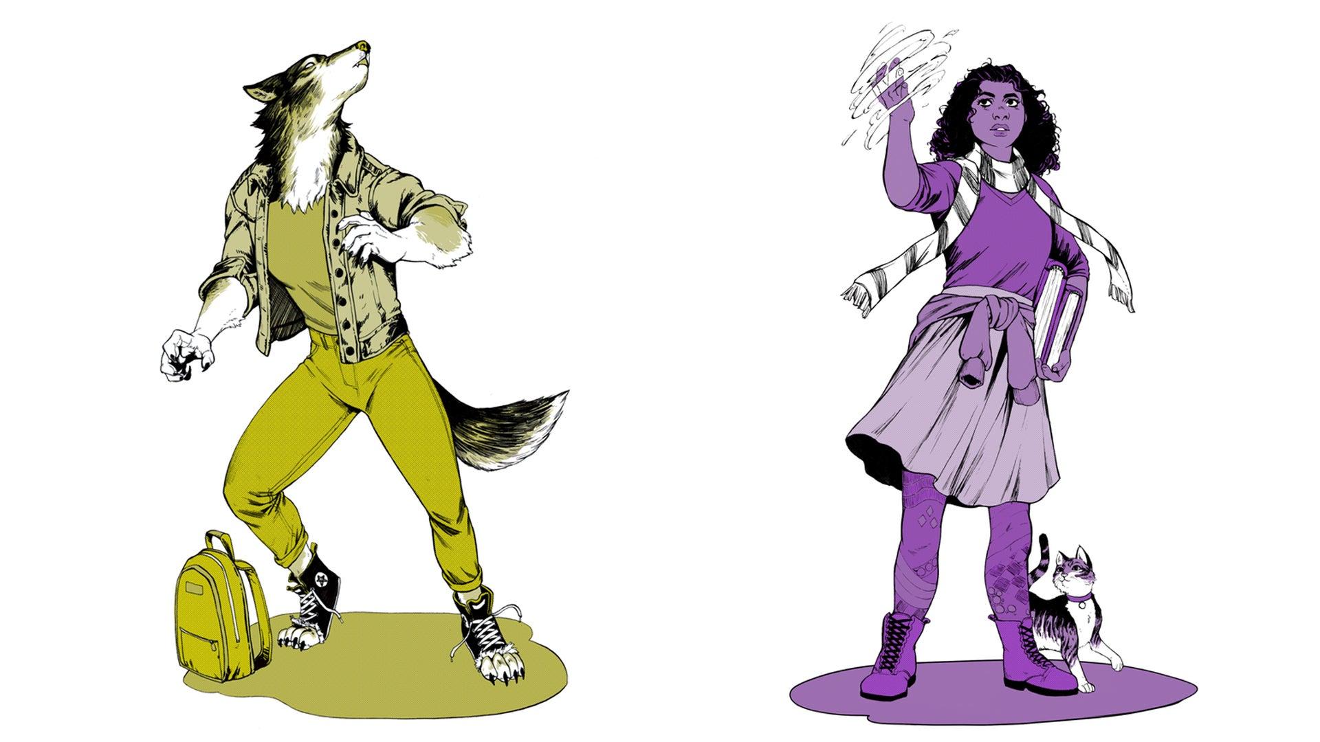 Dark Places and Demogorgons RPG artwork characters