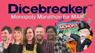Image for Watch us play 5 hours of Monopoly, sing about socks and cover ourselves in stickers to raise money for charity