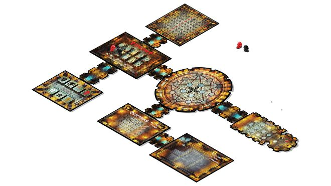 Dead Mans Cabal horror board game gameplay layout