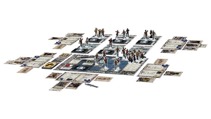 Dead of Winter co-op board game gameplay layout