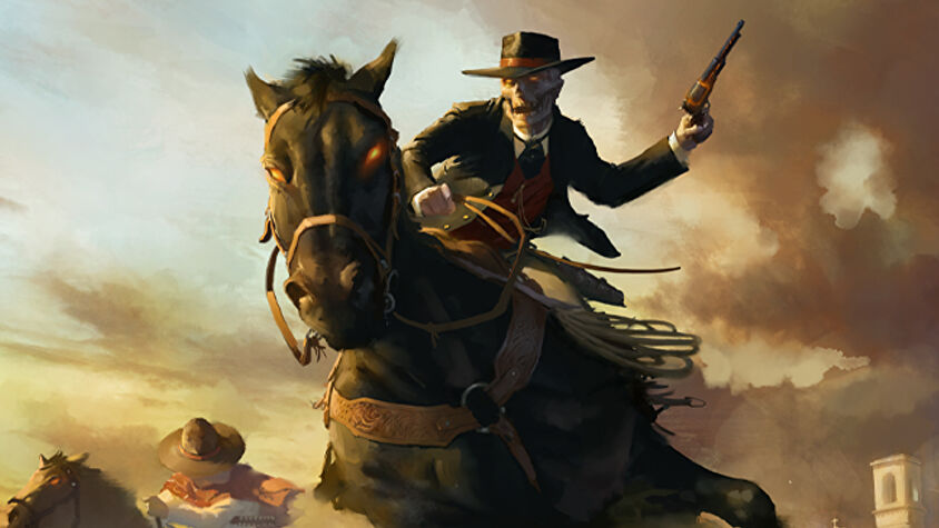 Deadlands tabletop roleplaying game artwork