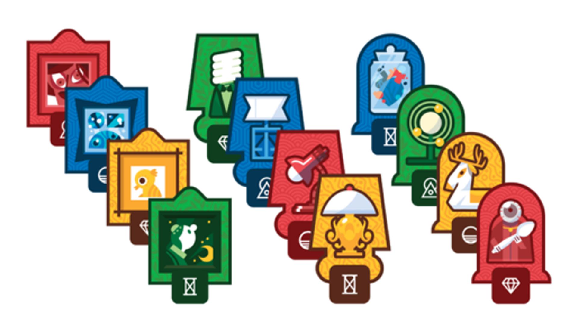 Decoram board game pieces