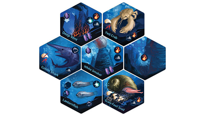 Deep Vents board game tiles