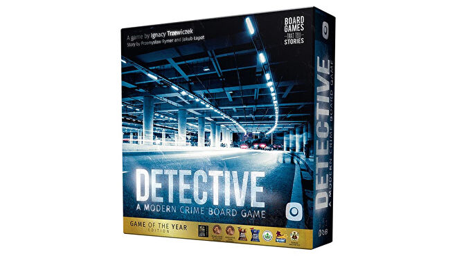 Detective: A Modern Crime board game Game of the Year box