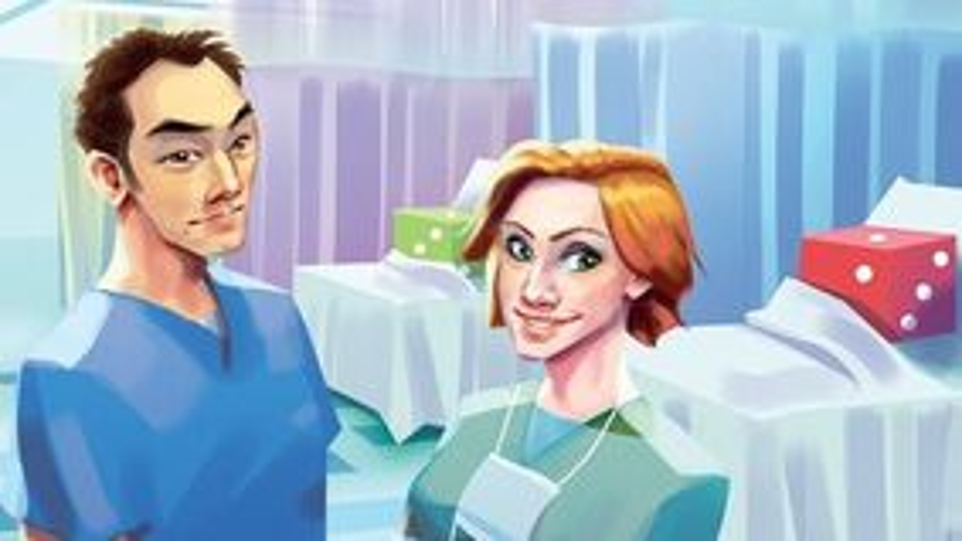 Dice Hospital: Emergency Roll board game artwork