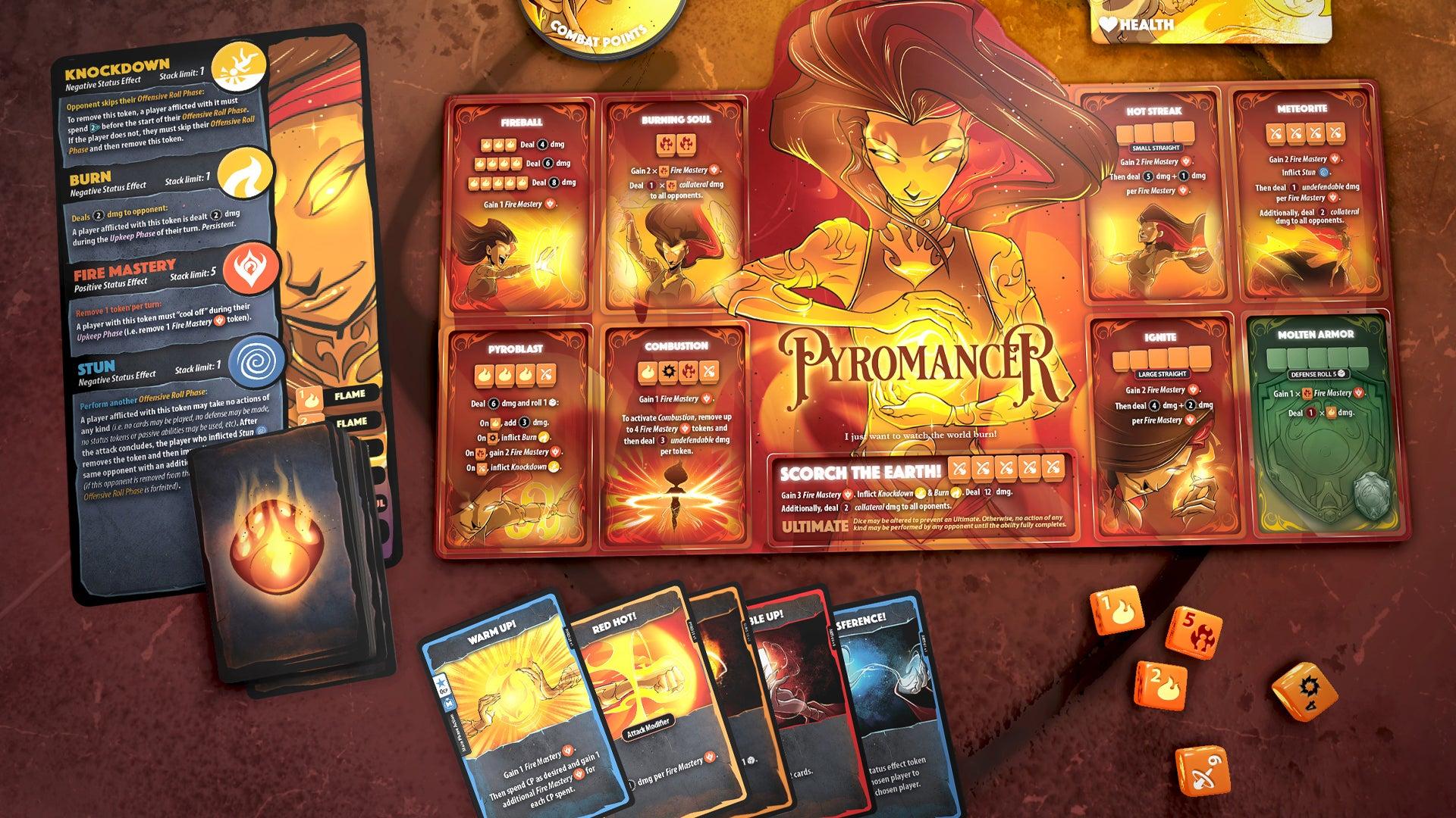 Dice Throne: Season One board game Pyro character board