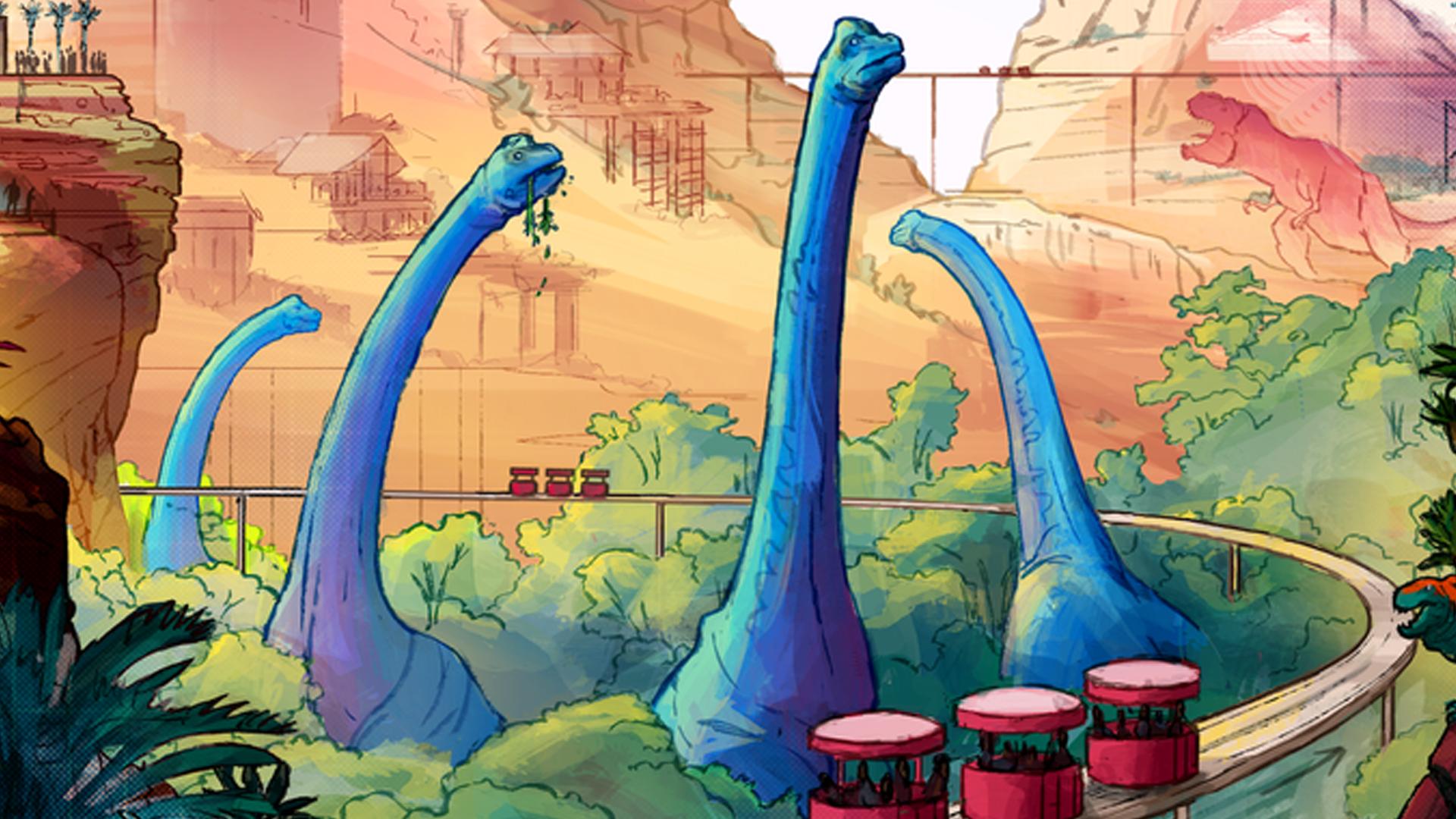 Dinosaur Island: Rawr n Write board game artwork