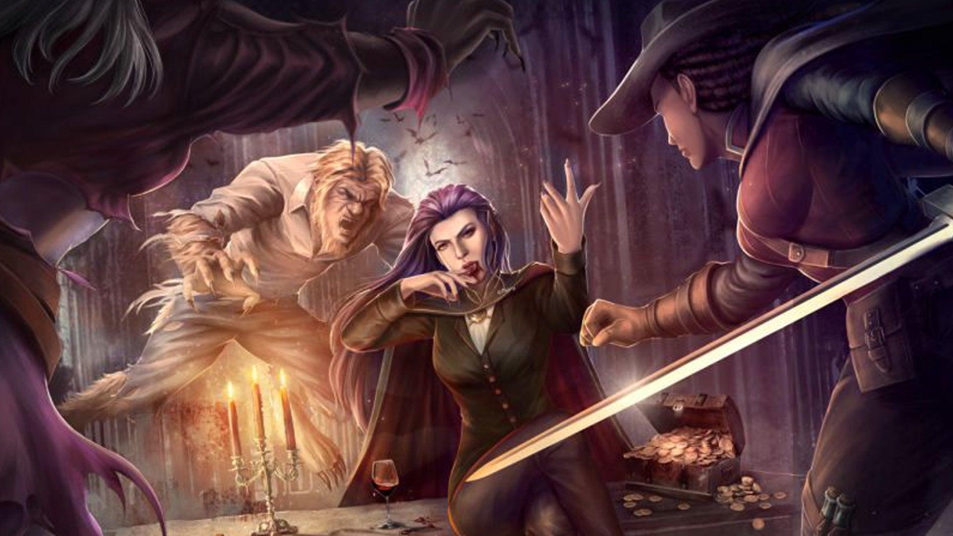 Dire Alliance: Horror board game artwork