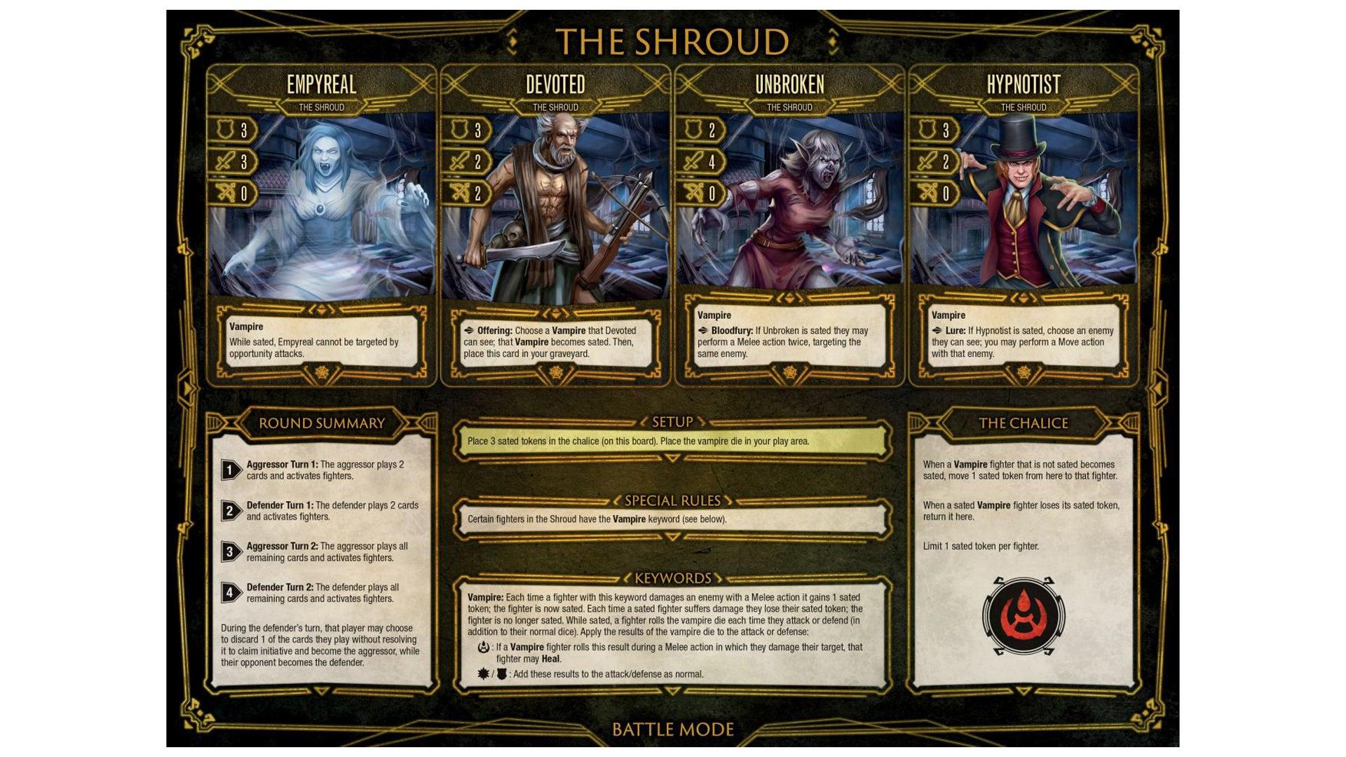 Dire Alliance: Horror board game The Shroud faction
