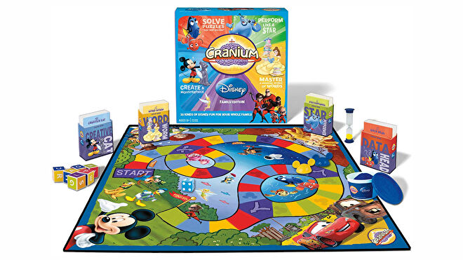 Cranium: Disney Family Edition board game layout