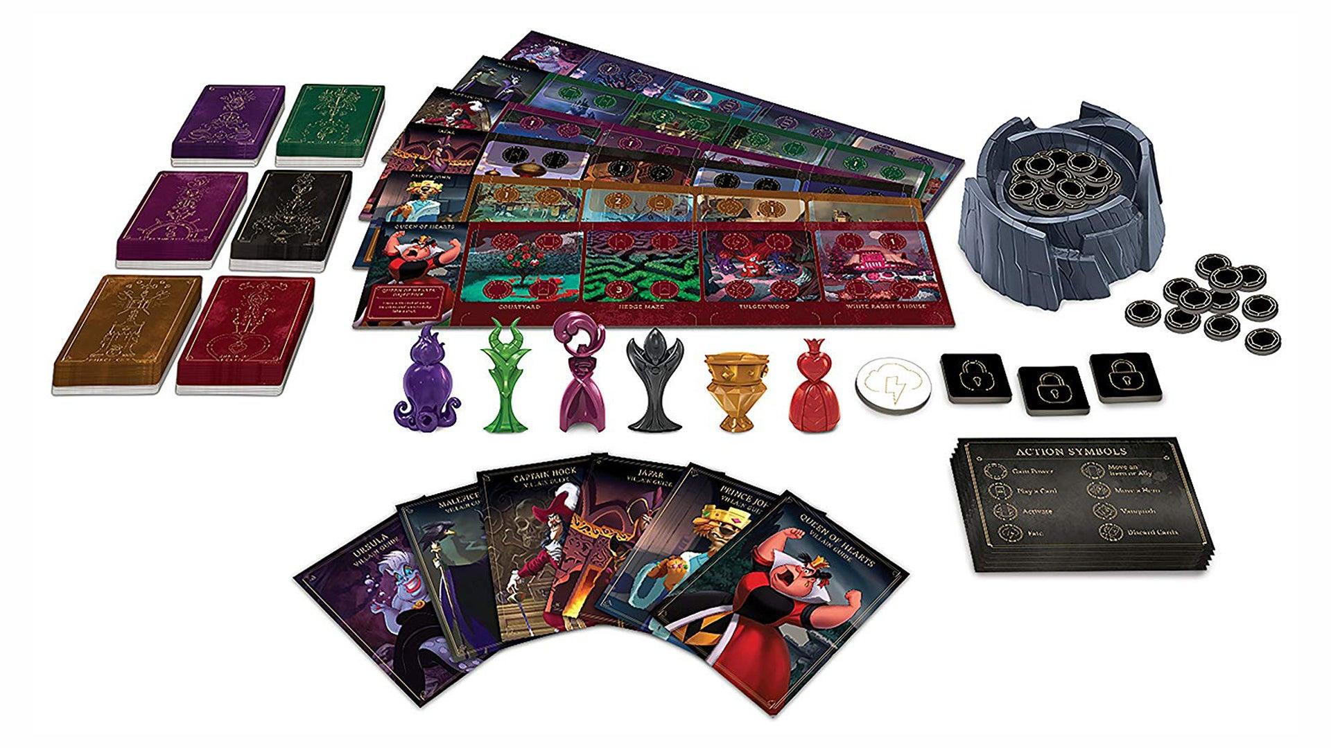 Disney Villainous board game layout