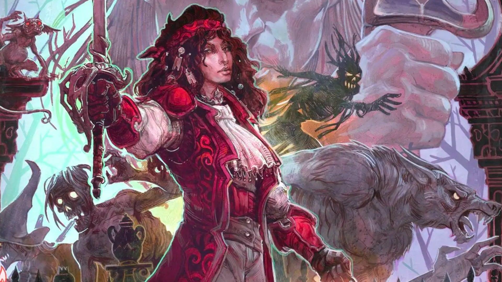 D&D 5E Van Richten's Guide to Ravenloft alternate cover artwork