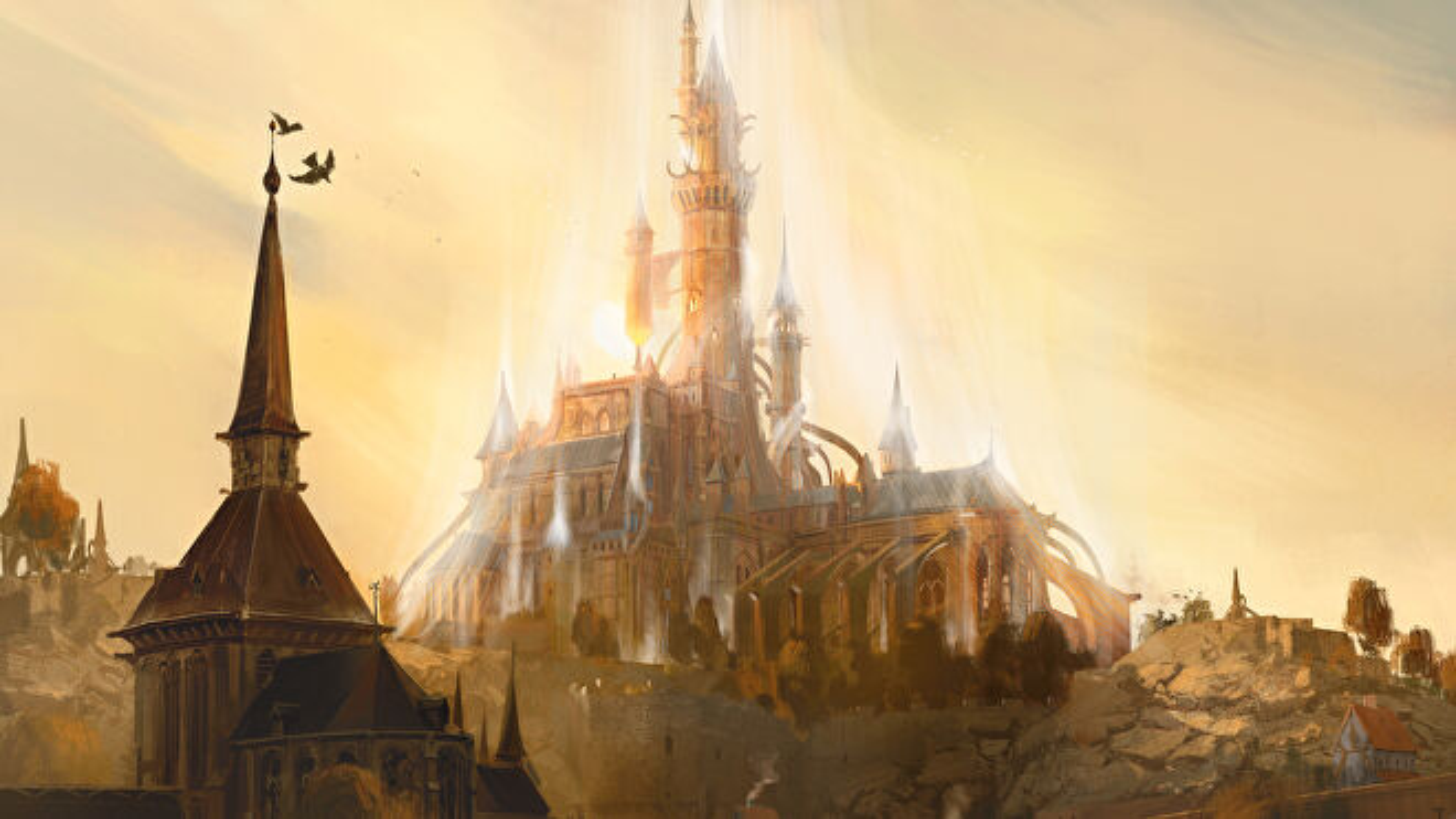 Dungeons & Dragons Eberron artwork landscape