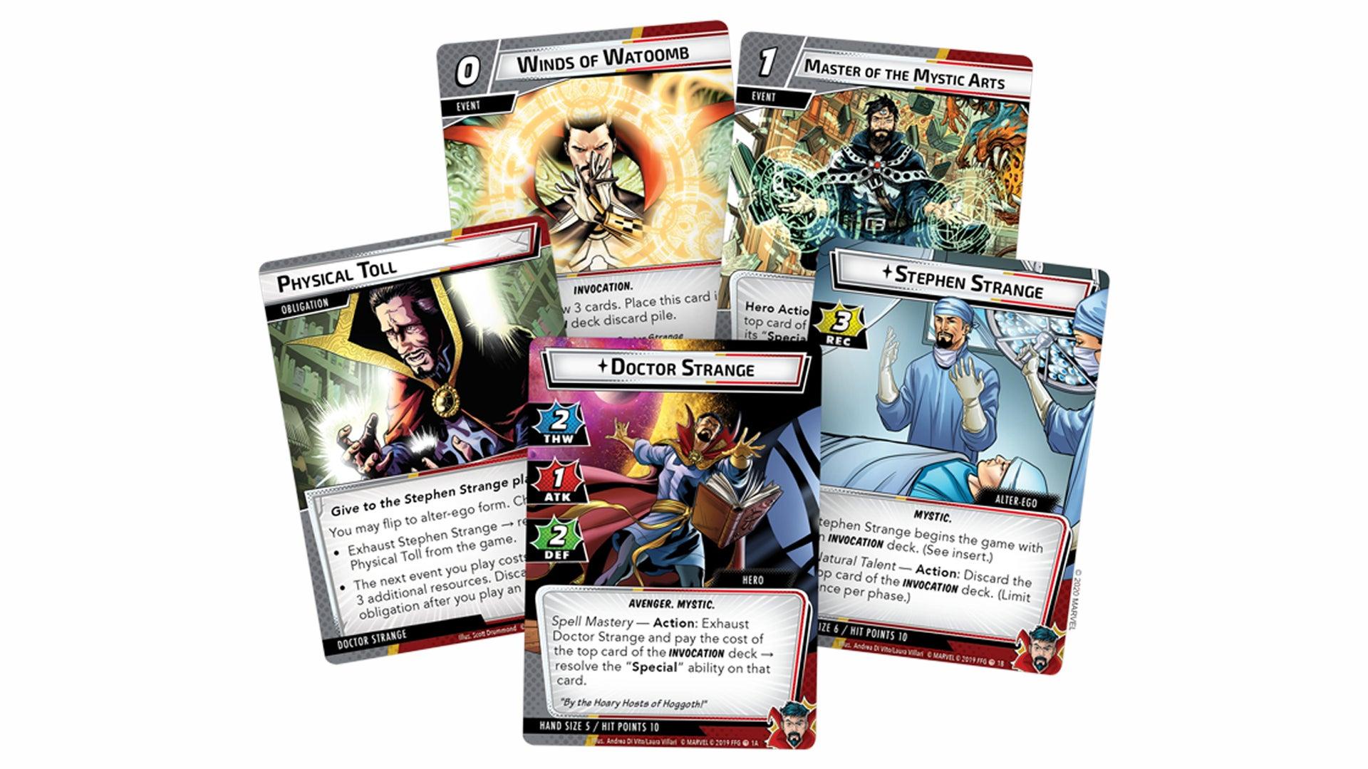 Doctor Strange Hero Pack cards