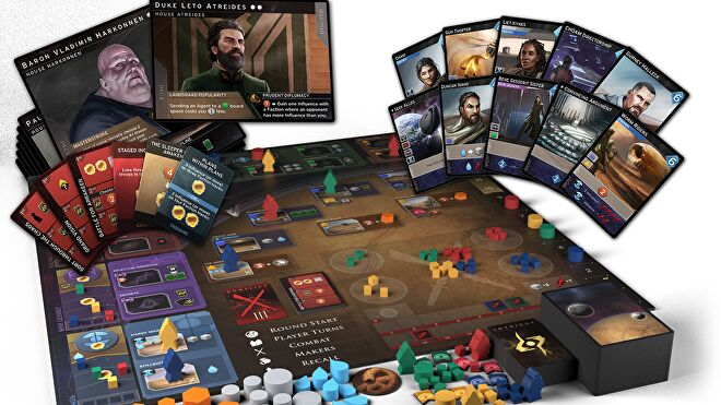 Dune: Imperium board game components