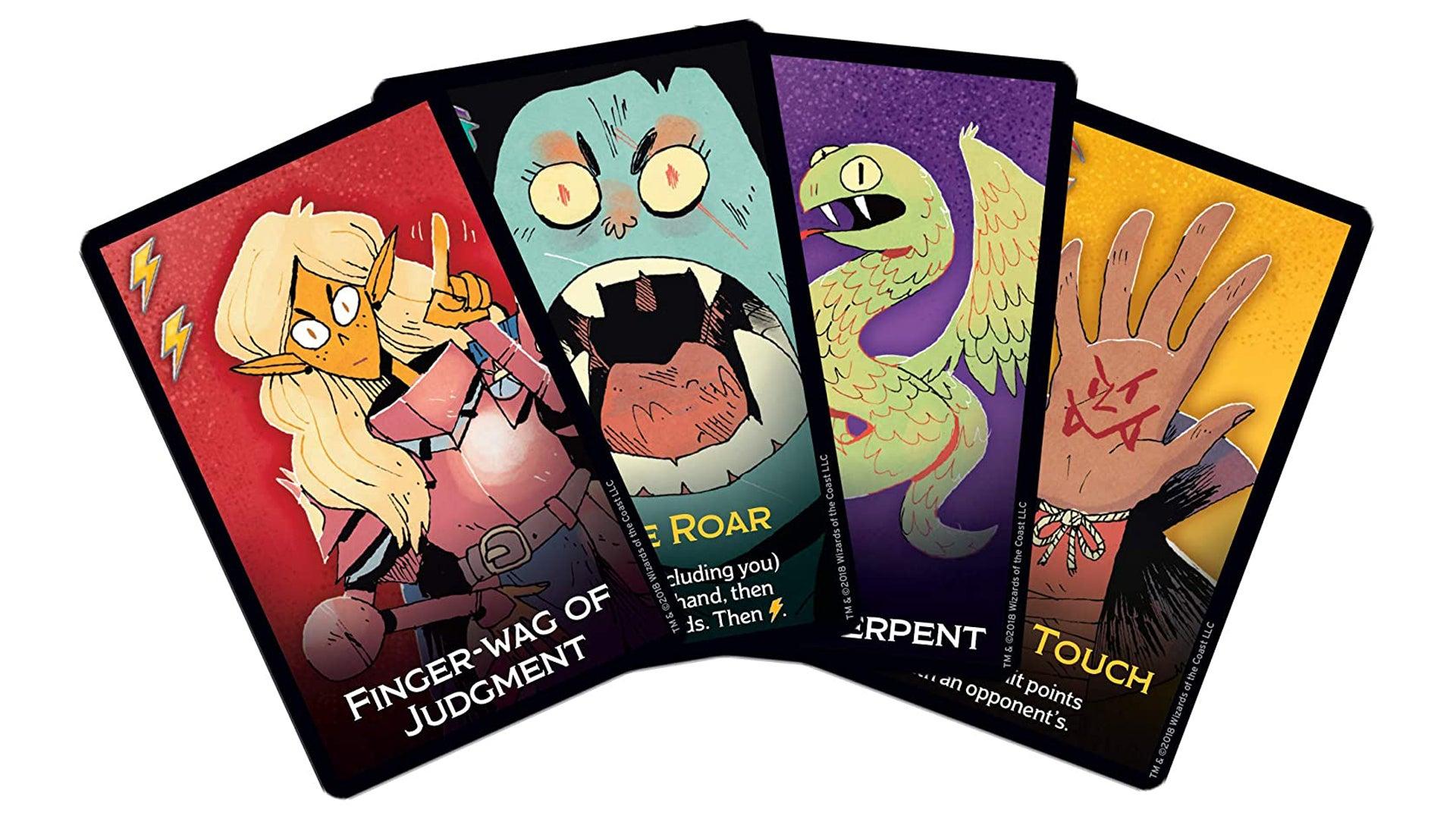 Dungeon Mayhem board game cards