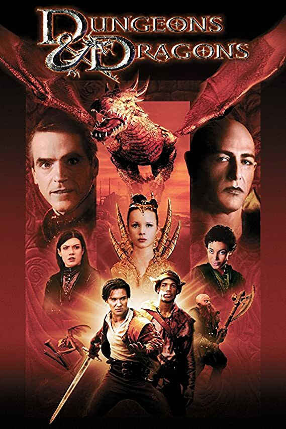 The poster for the 2000 Dungeons & Dragons movie