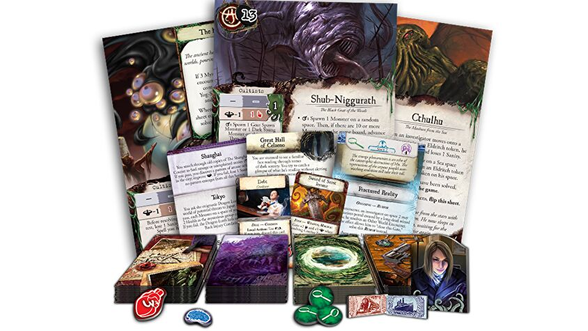 Eldritch Horror board game components