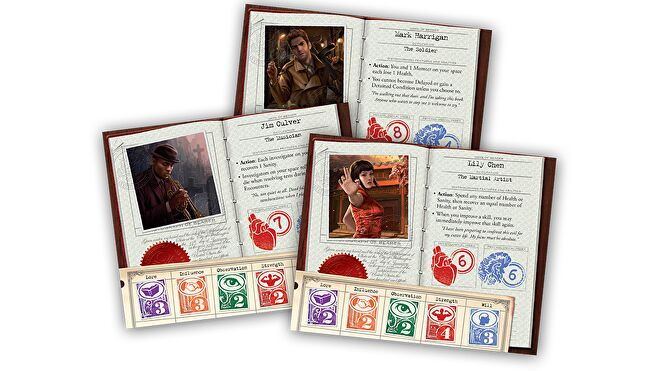 Eldritch Horror board game heroes cards