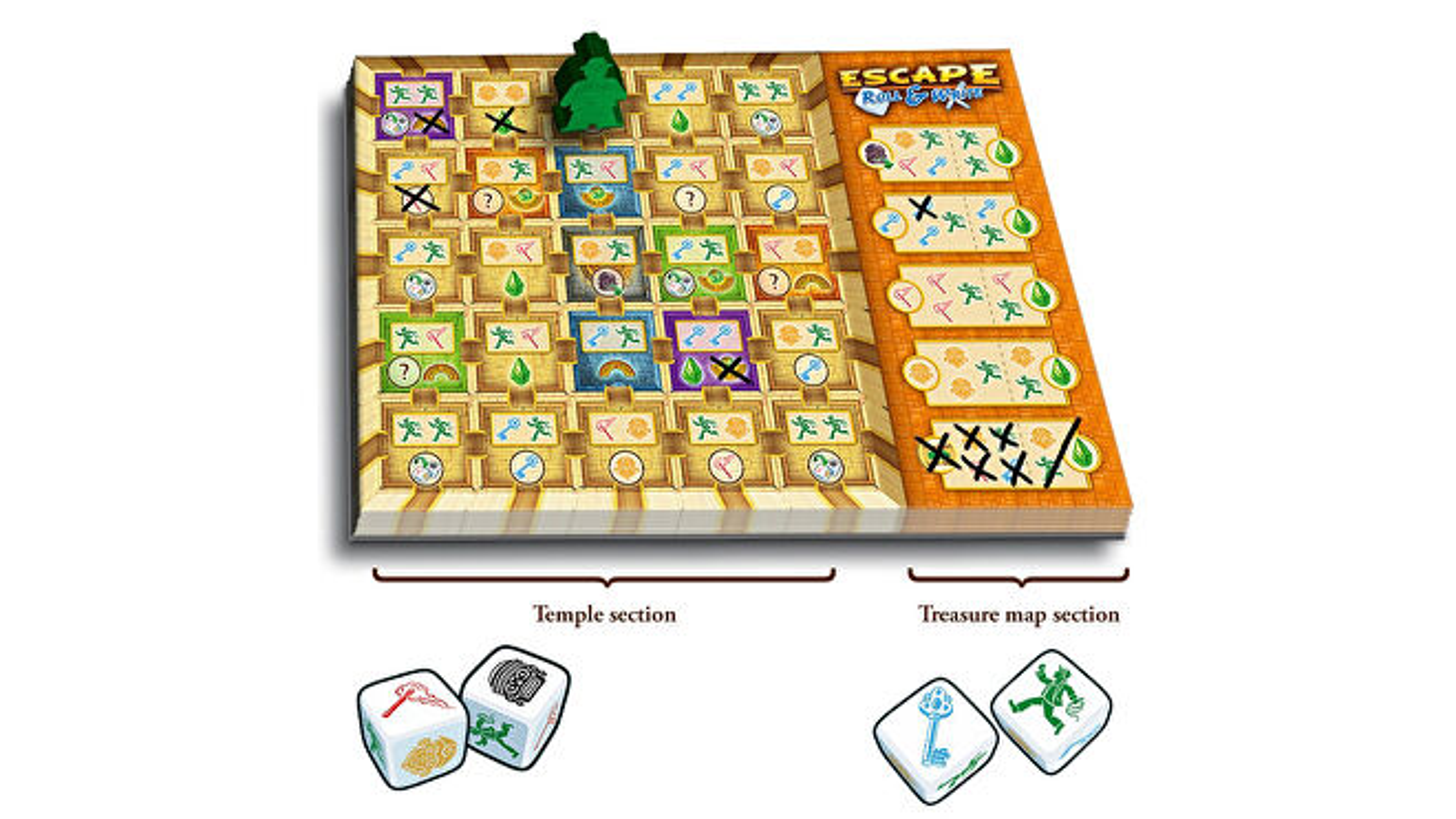 Escape Roll & Write board game layout 2