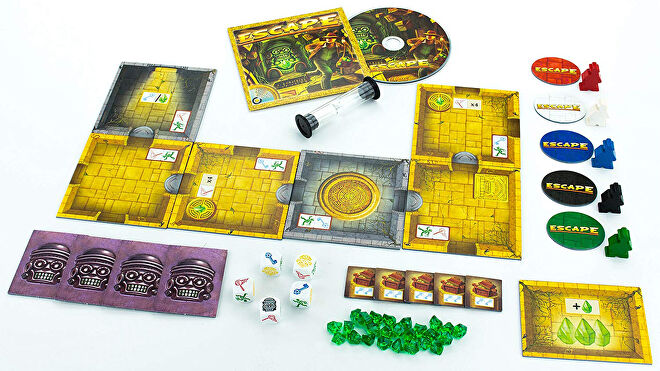 Escape: The Curse of the Temple board game gameplay layout