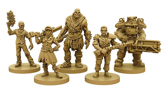 Fallout: the Board Game miniatures