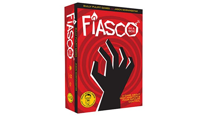 Fiasco! in a box RPG box
