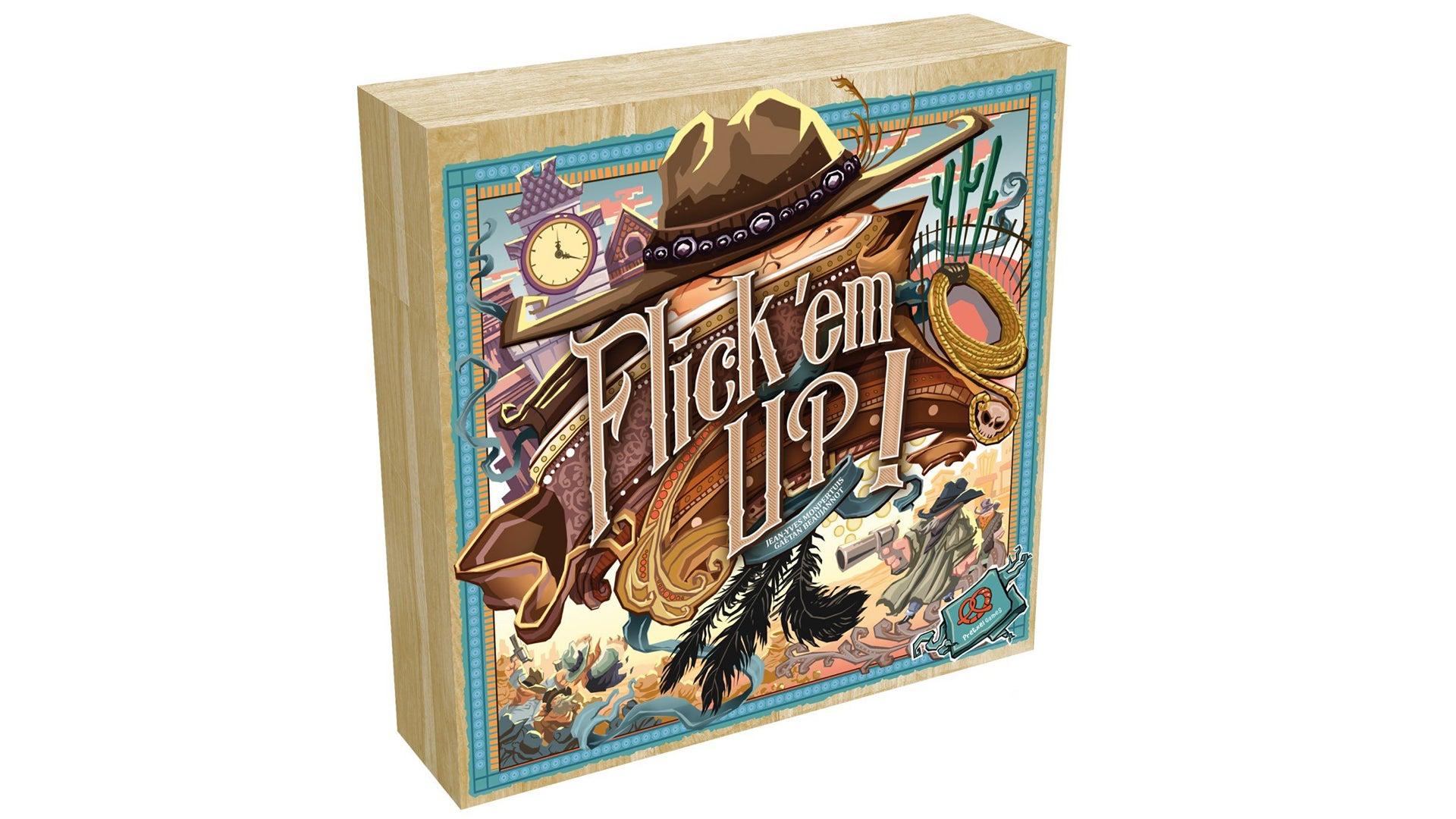Flick em up board game artwork box