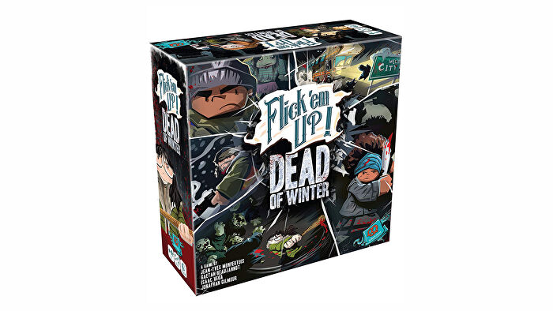 Flick em up dead of winter board game box
