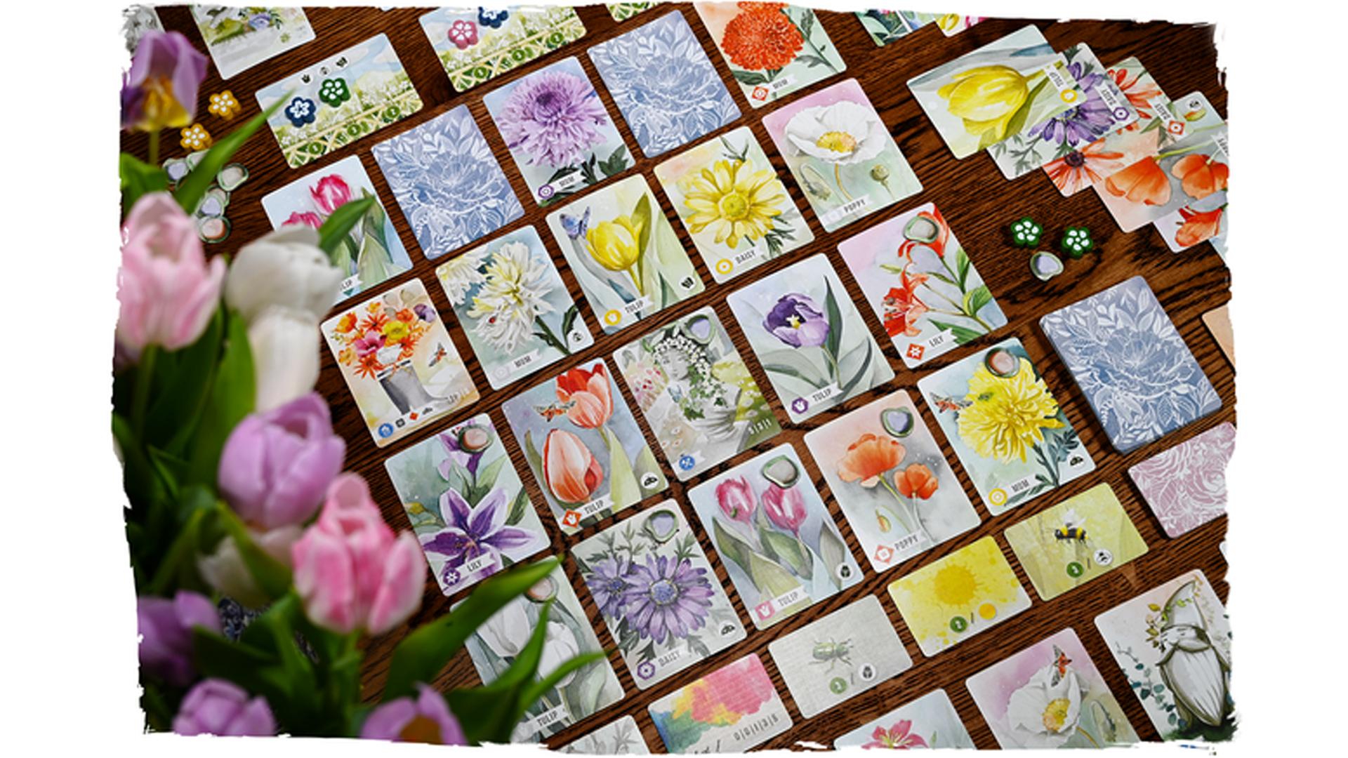 Floriferous board game cards