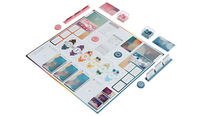 Fog of Love board game gameplay layout
