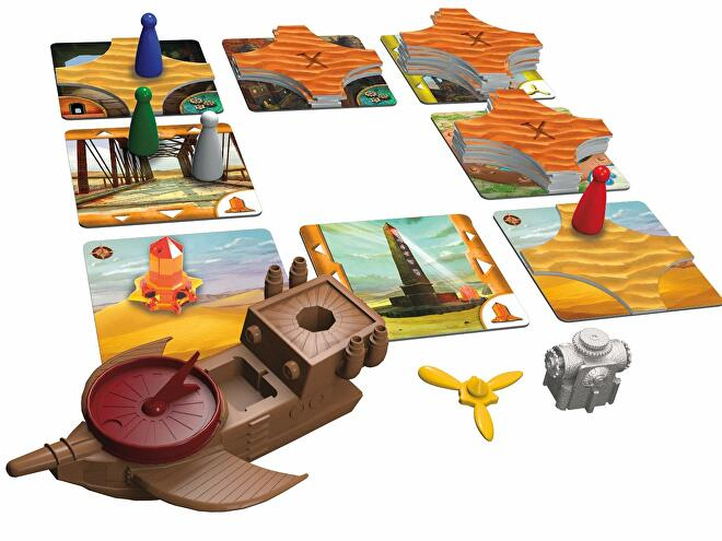 Forbidden Desert board game pieces