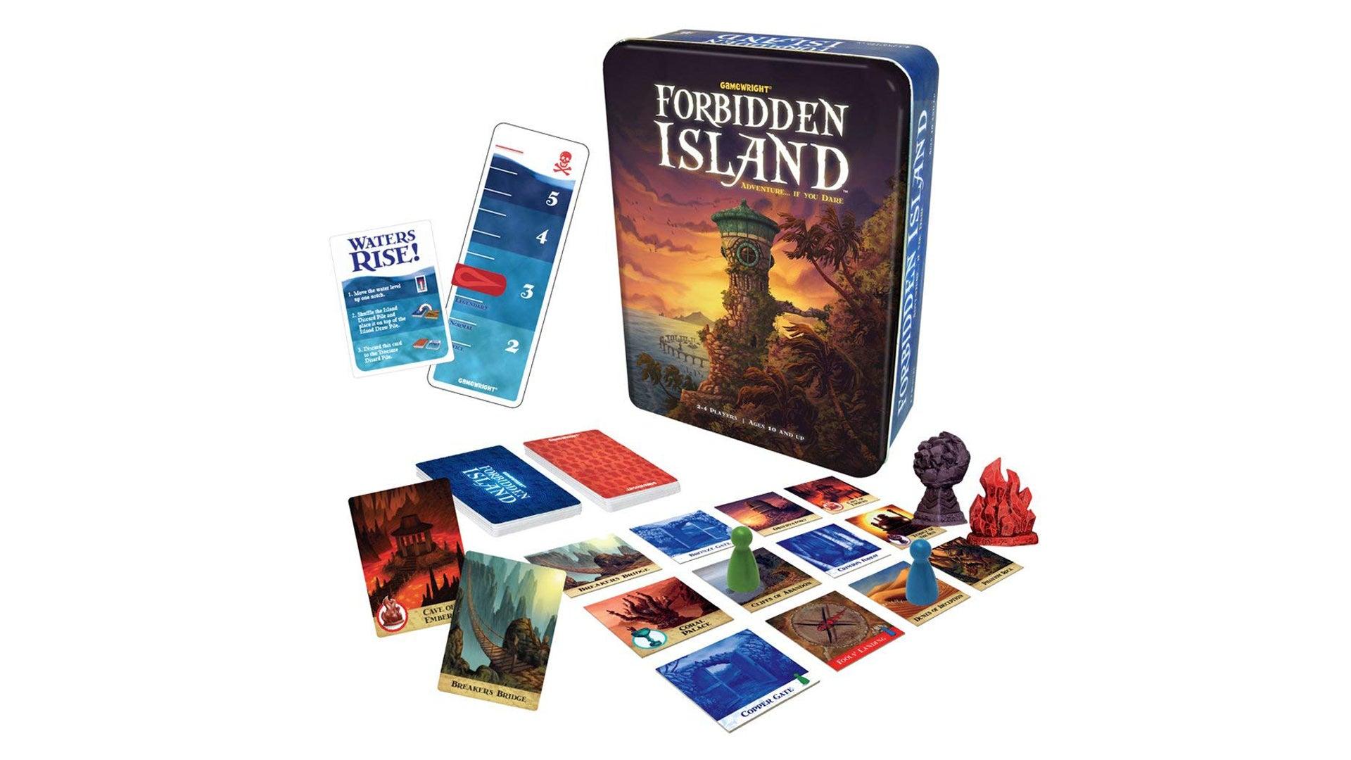 Forbidden Island board game layout
