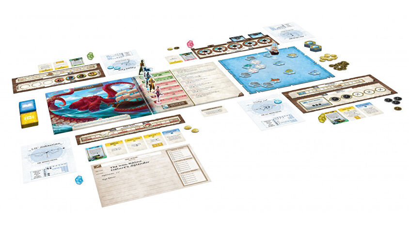 Forgotten Waters board game layout