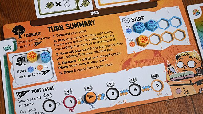 Fort board game player board 1