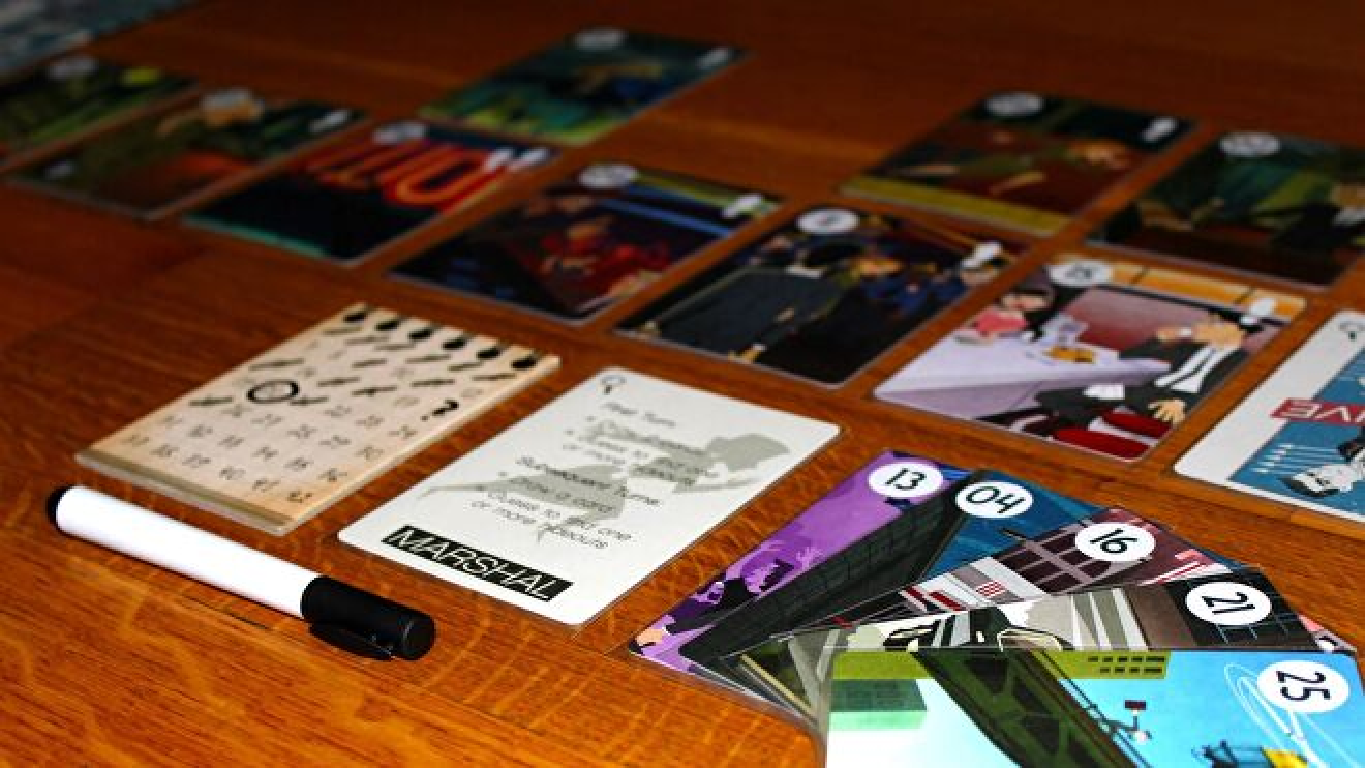 fugitive board game in progress
