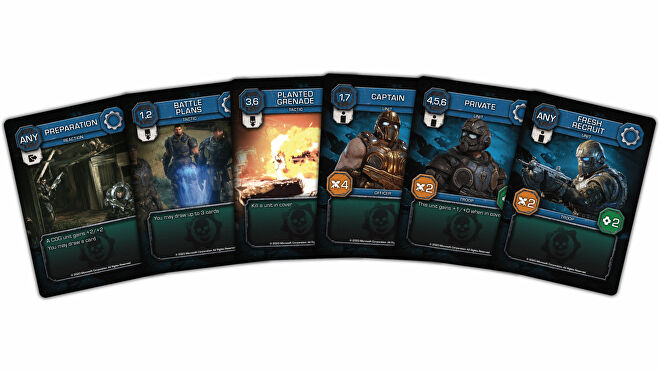 Gears of War: The Card Game trading card game COG card fan