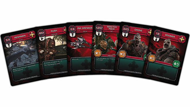 Gears of War: The Card Game trading card game Locust card fan