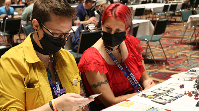 Attendees at Gen Con 2021
