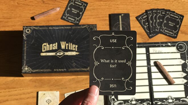 Ghost Writer board game question card