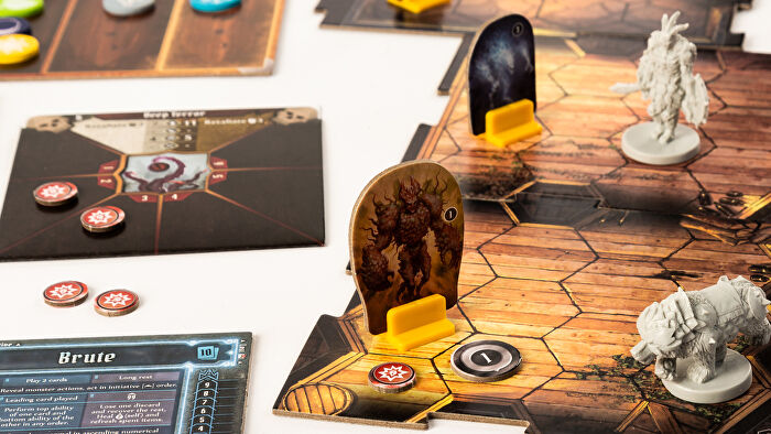 Gloomhaven strategy board game gameplay layout