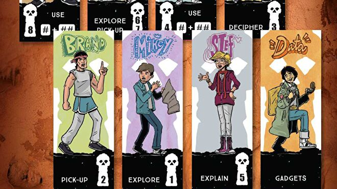 Goonies: Escape with One-Eyed Willy's Rich Stuff characters